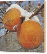 Persimmon Tree Wood Print