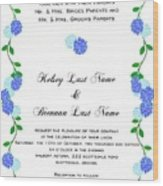 Personalized Wedding Invitations Wood Print