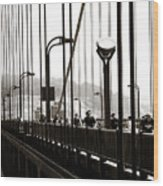 Perspective On The Golden Gate Bridge Wood Print