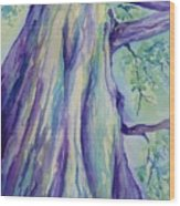 Perspective Tree Wood Print by Gretchen Bjornson