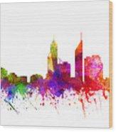 Perth Australia Cityscape 02 Wood Print