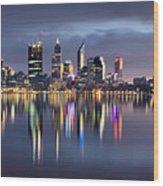 Perth My Beautiful City Wood Print
