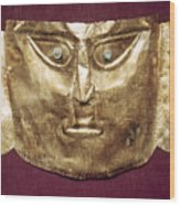 Peru: Chimu Gold Mask Wood Print