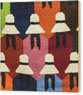 Peru Hat Tapestry Wood Print