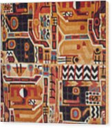 Peru: Tunic Fragment Wood Print