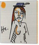 Peru Woman 24x24 Wood Print