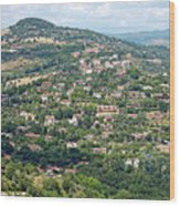 Perugia Countryside Wood Print