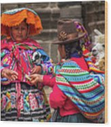 Peruvian Costume Wood Print
