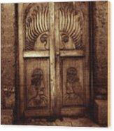 Peruvian Door Decor 11 Wood Print