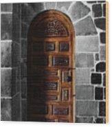 Peruvian Door Decor 13 Wood Print