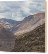 Peruvian Mountains From Pisac Site Wood Print