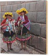 Peruvian Native Costumes  Wood Print