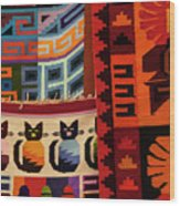 Peruvian Tapestries  Wood Print