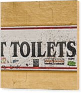 Pet Toilets Wood Print