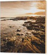 Petal Point Ocean Sunrise Wood Print