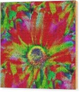 Petal Power Wood Print