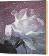 Petals And Drops Wood Print