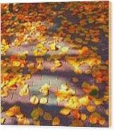 Petals Of Faith Wood Print
