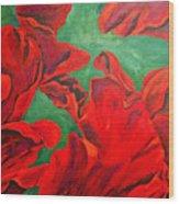 Petals Of Fire Wood Print