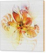 Petals Of Gold Wood Print