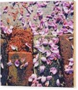 Petals On The Bricks 2 Ae Wood Print