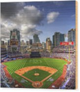 Petco Park Opening Day Wood Print