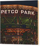 Petco Park Wood Print by RJ Aguilar