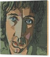 Pete Townshend - Behind Blue Eyes  Wood Print by Suzanne Gee