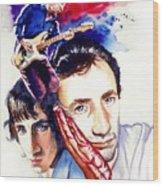 Pete Townshend Wood Print