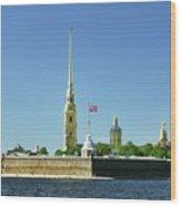 Peter And Paul Fortress. Saint Petersburg, Russia Wood Print