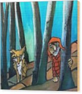 Peter And The Wolf Wood Print