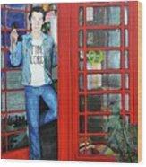 Peter Capaldi Dr Who Putting You Through Wood Print
