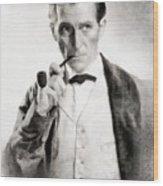 Peter Cushing As Sherlock Holmes Wood Print