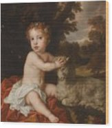 Peter Lely Portrait Of Princess Isabella 1676-1680 Daughter Of King James II And Mary Of Modena Wood Print