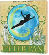 Peter Pan Tribute Wood Print