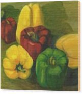 Peter Pifer Has A Lot Of Peppers To Choose From Wood Print
