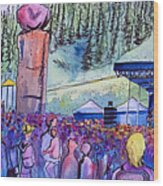 Peter Rowen At Copper Mountain Wood Print