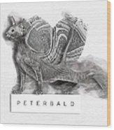 Peterbald Kitten 01 Wood Print