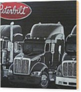 Peterbilt Trucks Wood Print