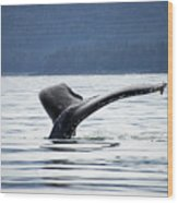Petersburg Ak Whale Tale 5 Wood Print