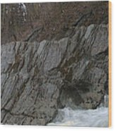 Petersburgh Falls Wood Print