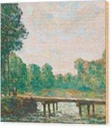 Petit Pont Sur L'orvanne Wood Print