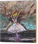 Petite Ballerina Wood Print