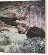 Petra, Transjordan: Cave Wood Print