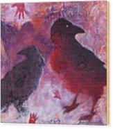 Petro Raven Wood Print