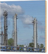 Petrochemical Plant Refinery Industry Zone Wood Print