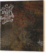 Petroglyph 8 Wood Print
