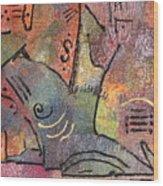 Petroglyph Quilt Wood Print