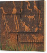 Petroglyphs Agave Wood Print