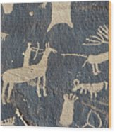 Petroglyphs, Utah Wood Print